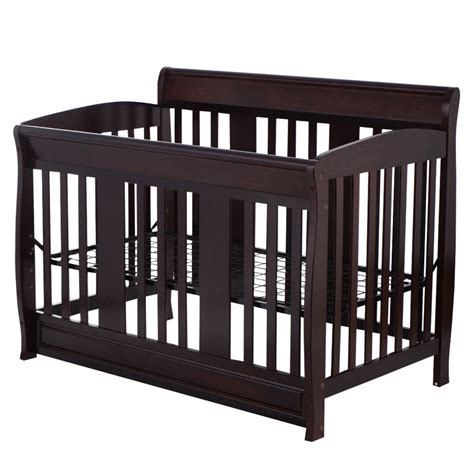 Toddler Bed With Crib Mattress Baby Crib 4 In 1 Convertible Toddler Bed Daybed Size Beds Solid Pine Wood Ebay
