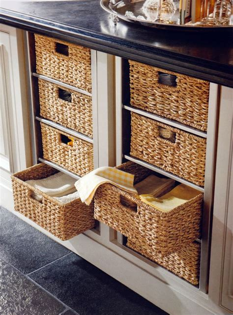 replace drawers  wicker baskets home pinterest