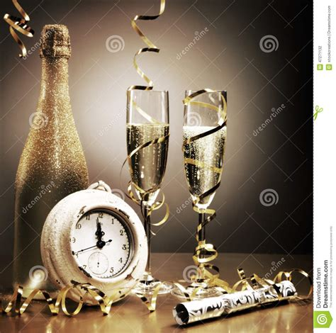 countdown to midnight on new years stock photo image