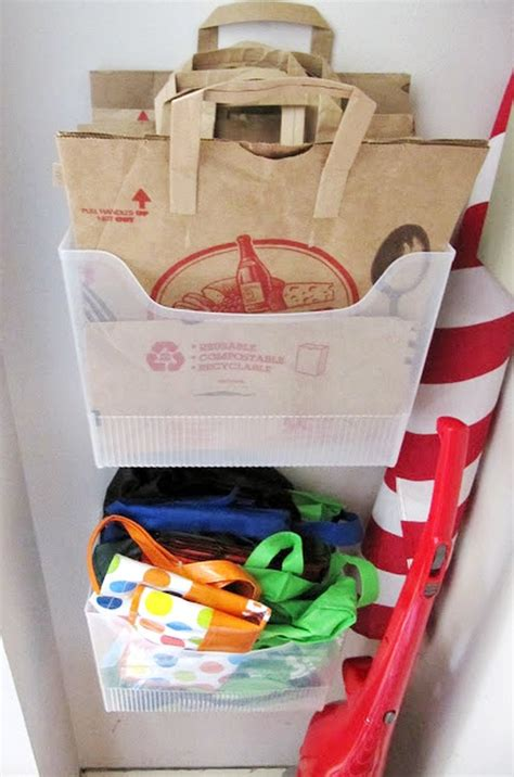 Best Way To Store Purses In Closet by A Smarter Way To Organize All Your Reusable Grocery Bags