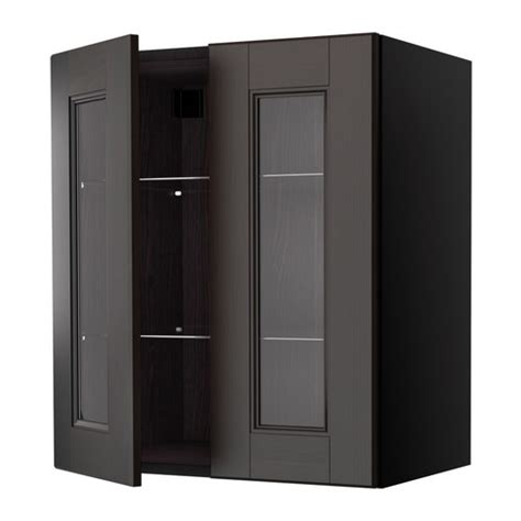 Kitchen Wall Cabinets With Glass Doors Ramsj 214 Wall Cabinet With 2 Glass Doors 60x70 Cm Ikea