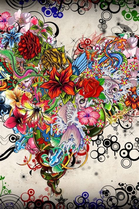 tattoo cartoon wallpaper tattoo girl iphone wallpaper wallpapersafari