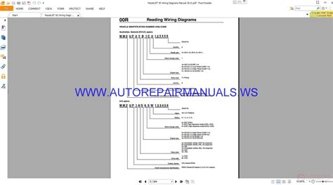 mazda bt 50 wiring diagrams manual 2012 auto repair