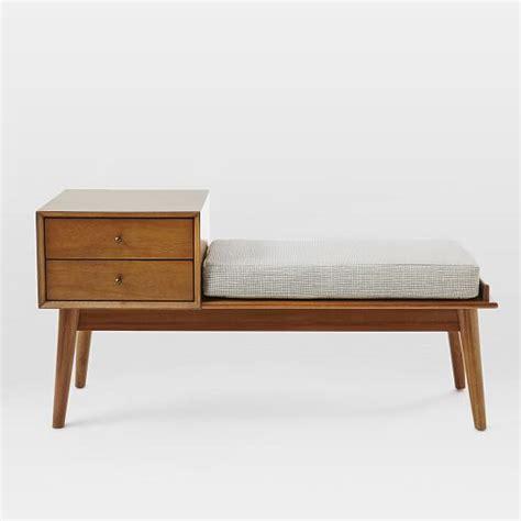 west elm shoe bench mid century storage bench acorn west elm