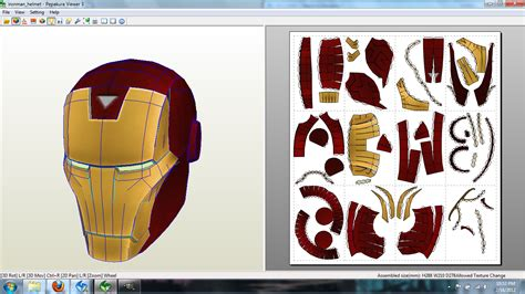 Papercraft Ironman Helmet - mvc3 iron helmet papercraft by johnnymuffintop on