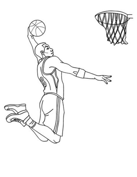coloring pages nba basketball players nba player slam dunk coloring page color luna