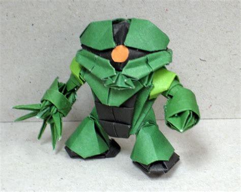cara membuat origami robot gundam incredible mobile suit gundam robots folded out of paper