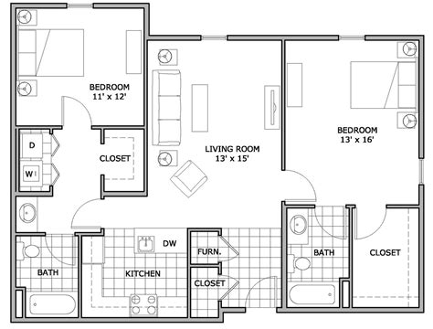 apartment floor plans  bedroom theradmommycom