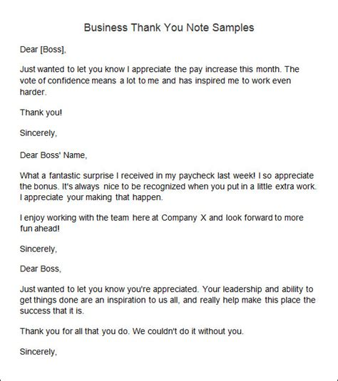 10 sle thank you notes sle templates