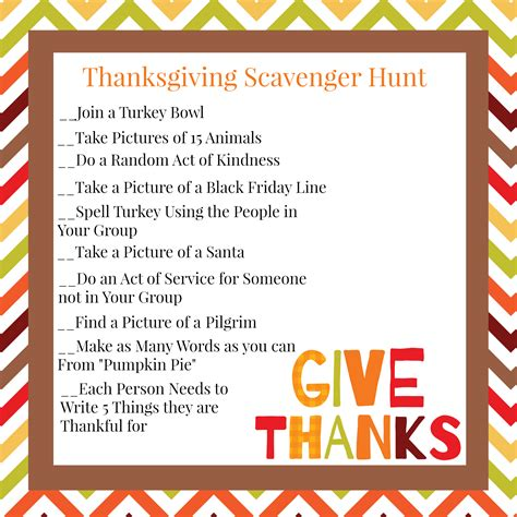 scavenger hunt thanksgiving family scavenger hunt squared
