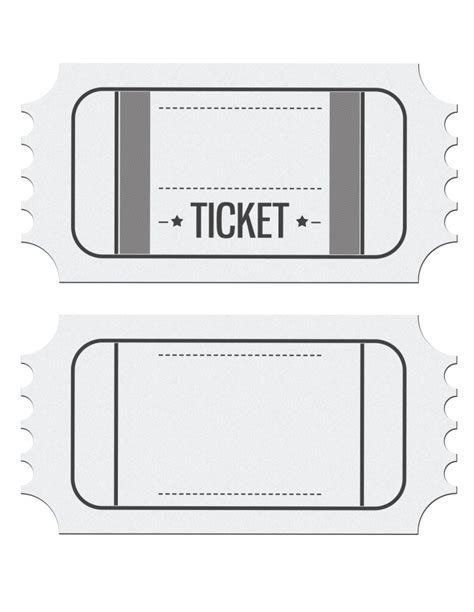 Movie Ticket Template Cyberuse Blank Ticket Template