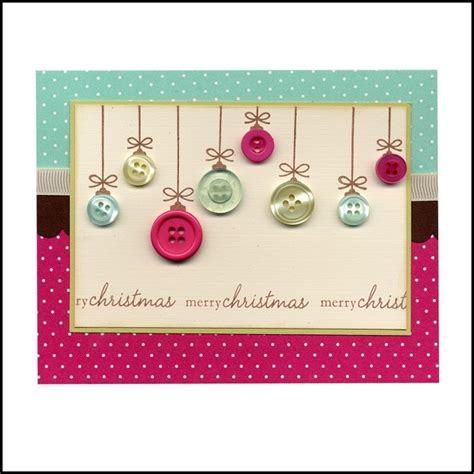 Handmade Cards With Buttons - handmade button card cards