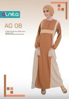 Alnita Gamis Ag 43 jual baju gamis alnita coklat muda