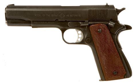 deactivated colt 1911a1 45 calibre pistol modern