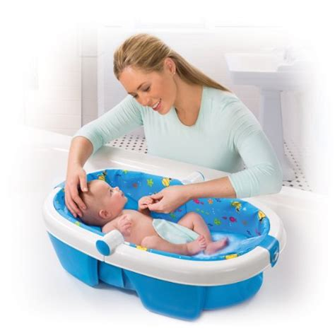 newborn baby bathtub summer infant newborn to toddler fold away baby bath new
