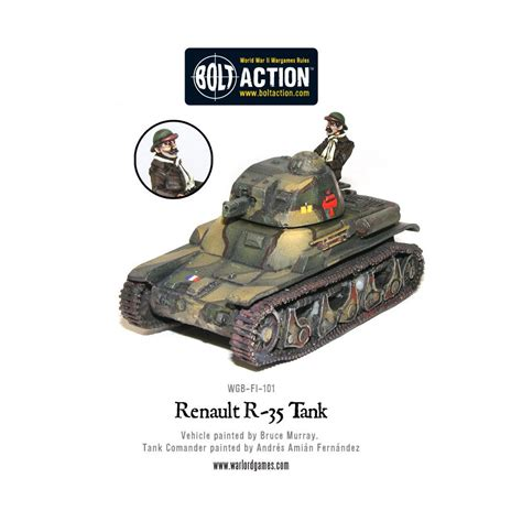 french renault figurine bolt action french renault r35 tank box set
