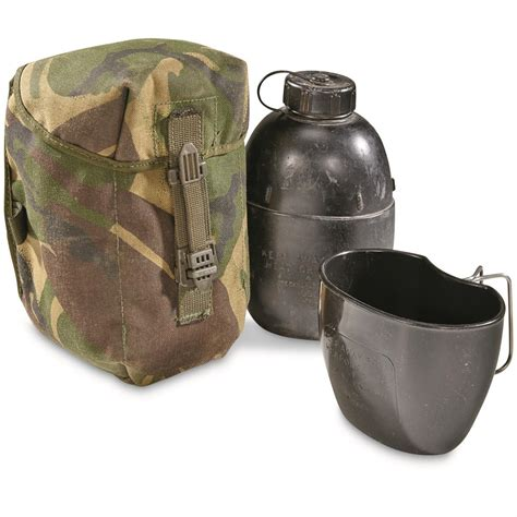 Useful Commemorative Us Army Plastic Aluminum Canvas Cover Black surplus wool covered aluminum canteen 1 quart used 619085 canteens