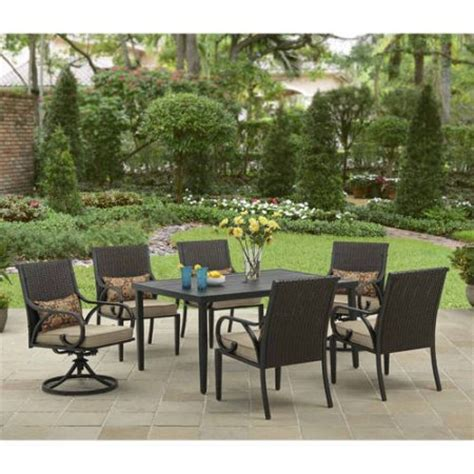 outdoor dining room sets better homes and gardens layton ridge 7 patio dining