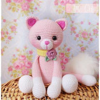 pink kitty pattern amigurumi pembe kedicik amigurumi pink cat pinteres