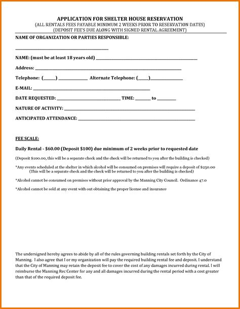 House Rent Contract Template by Rental House Contract Template Free