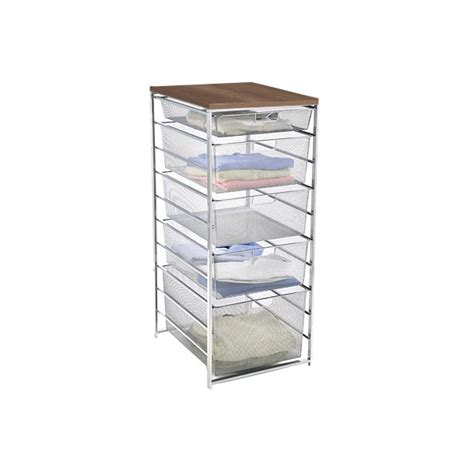 Elfa Drawer System by Platinum Elfa Mesh Dresser The Container Store