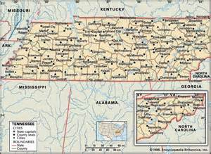 Tennessee Map With Cities And Towns by Tennessee History Geography State United States