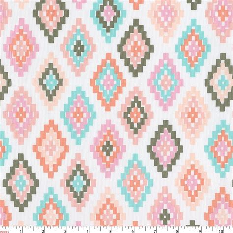 tribal pattern pastel blue pastel tribal fabric by the yard pink fabric carousel