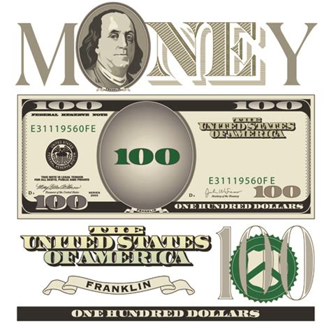 vector money with dollars design template 02 vector