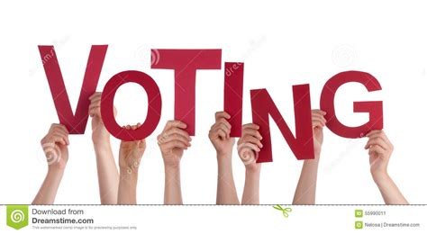 5 Letter Words Voter many holding word voting stock photo