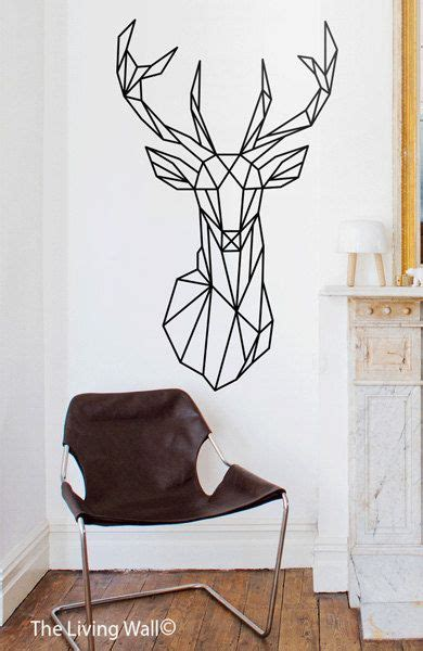 Wall Sticker Geometric Deer geometric deer decal geometric animal stickers deer removable vinyl australian made