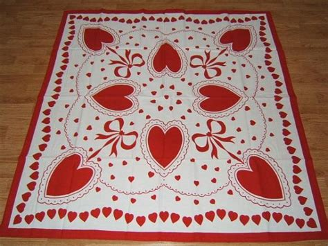 valentines day tablecloths white valentines day tablecloth 52x52 ebay