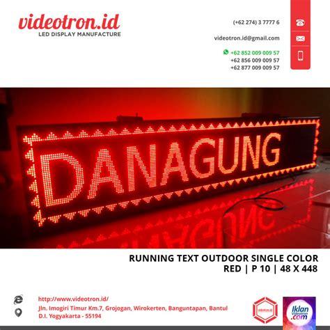 Running Text P10 Outdoor Merah Paket 1 running text merah p10 videotron indoneisa
