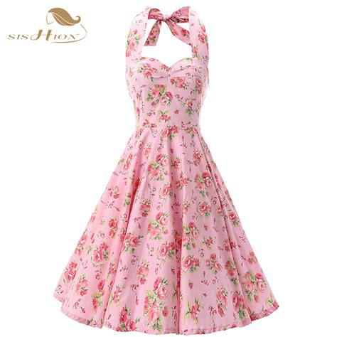60s swing dress aliexpress buy halter 50s rockabilly dresses