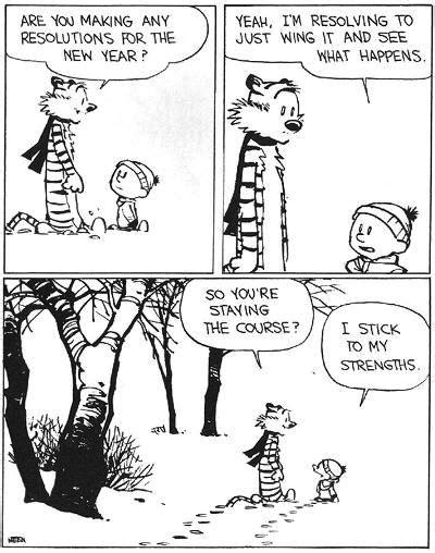 calvin and hobbes new years resolution reasons why i calvin hobbes tip of my tongue moments
