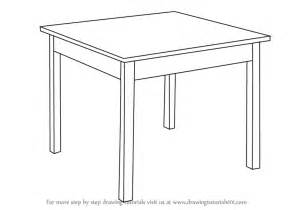 tisch zeichnen learn how to draw a table furniture step by step