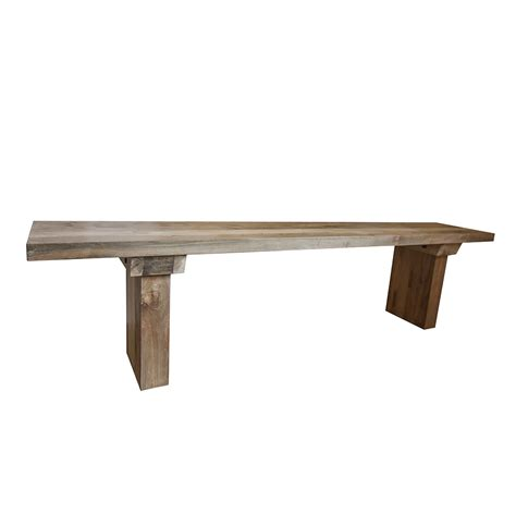 Sunut Reclaimed Wood Dining Table And Bench Set Stunning Wood Dining Table With Bench