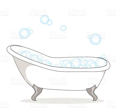 bathtub with bubbles vector of bathtub with soap bubble on a white background stock vector art 471582570