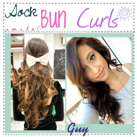 easy sock bun curls 1000 images about no heat curls on heatless
