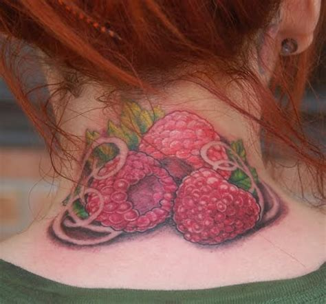 raspberry tattoo designs raspberries fresh ideas