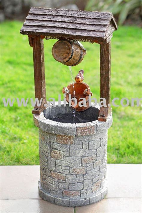 solar powered wishing well water feature buy water