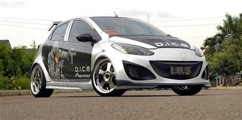 Fogl Mobil Mazda 2 Tahun 2010 2012 mazda trends modif mobil unik asik abu abu fiksi modif sepeda motor