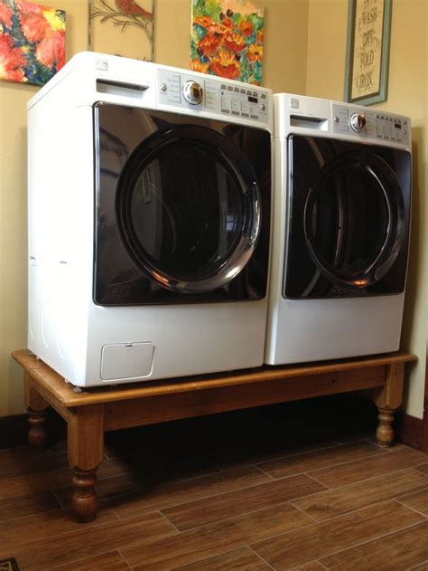 Build A Washer Pedestal washer dryer on a coffee table diy pedestal much