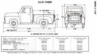 Ford Truck Specs Restore Your Ford 1953 1956 Ford Truck Dimensions And