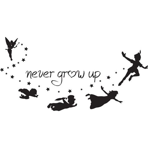 never grow up tattoo svg disney pan never grow up pan quote disney