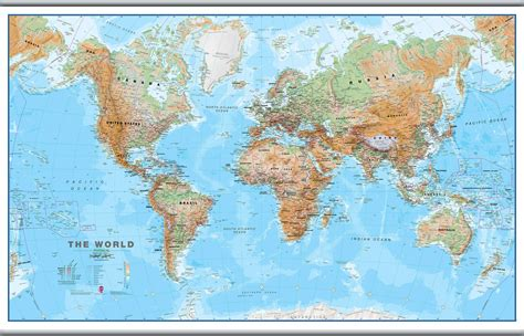 large wall map large world wall map physical hanging bars