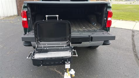 tailgate grill hitch assembly bbq grill