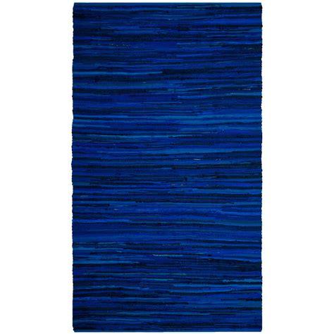 blue rag rugs safavieh rag rug blue multi 5 ft x 8 ft area rug rar130b 5 the home depot