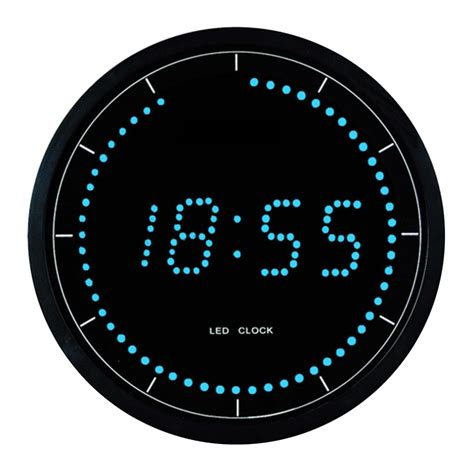 modern digital led wall clock