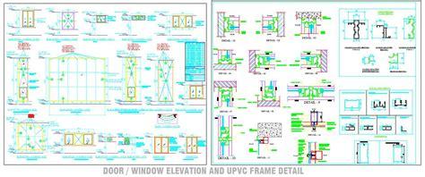 Upvc Window Sections Dwg by Upvc Door Window Detail Drawing Plan N Design