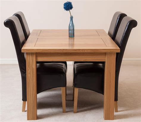 Dining Chairs Seattle Seattle Dining Set With 4 Brown Chairs Oak Furniture King